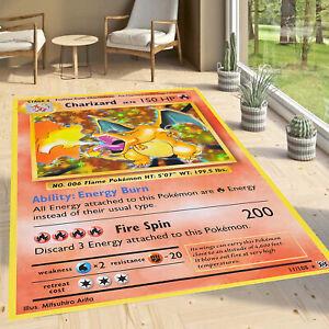 Pokemon card Rug 12, Fan Carpet Non Slip Floor Carpet,Teen's Rug,Area Rug