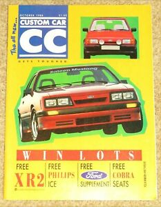 CUSTOM CAR Magazine Oct 1986 - MODIFIED FORDS ISSUE - BMW E30 - MINOR - SUPRA