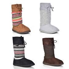 NEW Dearfoams Women's Mixed Material EVA Boot Crossover DFCOM60011