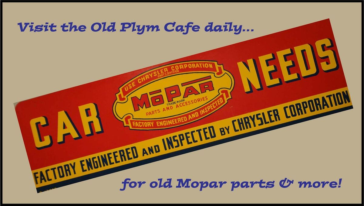The Old Plym Cafe | eBay Stores
