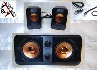 2.1 Mini Soundsystem SubWoofer Lautsprecher Speaker PC Notebook TV DVD Black OVP