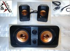2.1 Mini Soundsystem SUBWOOFER ALTOPARLANTI SPEAKER PC NOTEBOOK TV DVD BLACK OVP