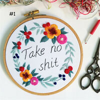 Embroidery Floral Cross Stitch Kits for Beginners at Home Craft
