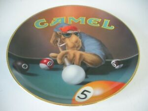 JOE CAMEL PLAYING POOL 1995 LIMITED EDITION CERAMIC COLLECTOR PLATE RJR TOBACCO