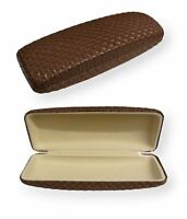 Reading Glasses Sunglasses Hard Carry Case Hard Box Travel Pack Pouch Brown