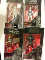 Star Wars The Force Awakens ..Black Series 6 Inch Action Figure new lot of 4 nib