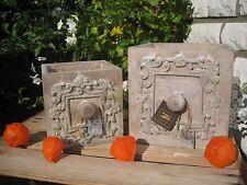 2 Schubladen im Set als Pflanztöpfe Shabby Aufbewahrung antik Landhaus Deko
