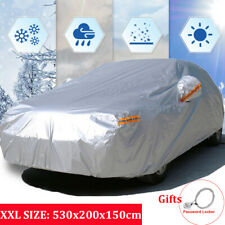 XXL Waterproof 210T Full Car Cover Breathable Outdoor Dust Rain Snow Protection
