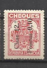 C5C-SELLO FISCAL MNH** ESPAÑA 1934 2ª REPUBLICA 1934 HABILITADO NUEVO VALOR Y CL