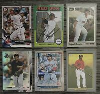 ⚾️Rafael Devers 6-CARD LOT including ROOKIE 2018 Bowman #25