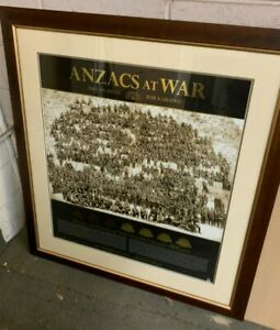 Anzacs at War - Fall an Anzac, Rise a Legend.   Limited Edition Print - Framed