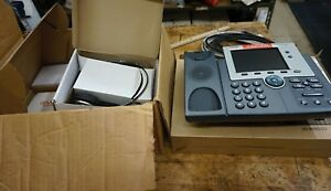 Cisco 7945G Two Line Color Display IP Phone WITH EXTRAS NEW FREE SHIPPING