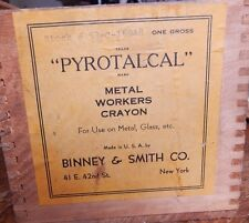 """10 Qty. Binney & Smith Metal Workers Crayon Chalk Soap Stone """"Pyrotalcal"""""""