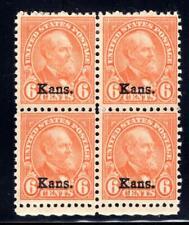 1¢ WONDER'S ~ US #664 BLK4 F-VF MNH/MH 6¢ KANSAS OVPT 2 MNH/TOP 2MH ~ O847