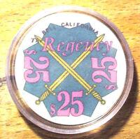 $25. Regency Casino Chip - Bell, California - 1981