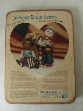 Sarah's Attic Wood Forever in Our Hearts Armed Forces Advertising Sign 1991
