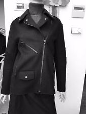 alexander wang X H&M Black felted polyester biker jacket thick &  warm