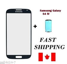 BLACK Replacement Front Screen Glass Lens For Samsung Galaxy S4 SIV i9500 i337