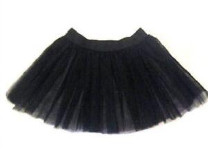 "Neon BLACK tutu Skirt 80s Fancy Dress Hen Rock n Roll 18"" Length Underskirt 50s"