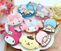 My melody little twin stars Pom Pom Purin PVC key cover met key chains holder