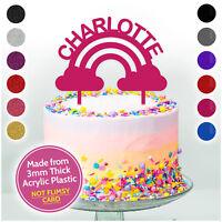 RAINBOW Unicorns Girls Birthday Cake Topper Personalised Cake Decorations Her