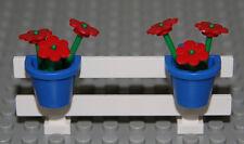 ☀️NEW LEGO City White Fence w/ Flowers Belville House Garden Girl Minifigure #2