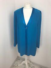 J Taylor Cerulean Blue Top Loose Fit Blazer Cardi Shirt Relaxed Long 18 V Neck