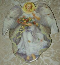 A Summers Radiance Edgar Jerins Collectible Angel Plate Seasons of Joy With Coa