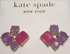 KATE SPADE New York $68 EARRINGS STUD CLUSTER PURPLE PINK WBR9704 14k Gold Fill
