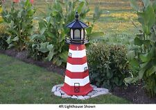 Amish-Made Replica Assateague, Va Lighthouse with Lighting - In 13 Sizes!