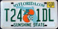 "FLORIDA "" ORANGE BLOSSOM - SUNSHINE STATE - T24 1DL"" FL Graphic License Plate"