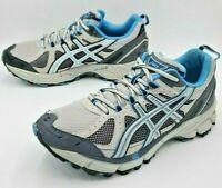 Asics Gel-Kahana Trail Running Shoes, Women Sz 8.5 D, Blue Grey T0E6N, Athletic