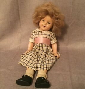 """Vintage Shirley Temple Doll 18"""" Ideal Composition Antique 1934 Prototype 1930's"""