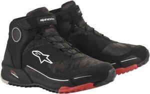 Alpinestars CR-X Drystar Black Camo Red Shoes