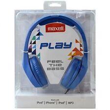Auriculares cascos de diadema con cable Maxell MXH-HP500 WH azul 96 Db 32 Ohm