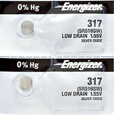 2 x Energizer 317 Watch Batteries, SR516SW Battery   Shipped from Canada
