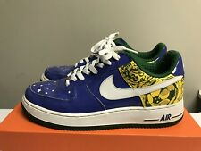 Rare Brazil Ronaldinho Nike Air Force One Size 10 Blue Green Yellow Soccer US 1