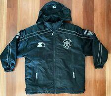 Vintage NFL Oakland Raiders Starter Jacket Size XL - Puffer Zip Hood Football