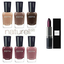 Zoya Nail Polish Naturel Deux Collection. Free Maxwell Zoya Lipstick Value $12.