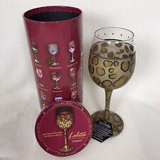 Lolita Collectible Leopard Animal Print Sparkling Wine Glass New 15 oz Gold