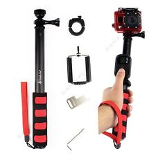 Remote Pole Selfie Stick Extendable Telescopic Monopod for GoPro 7 6 5 4 3 Black