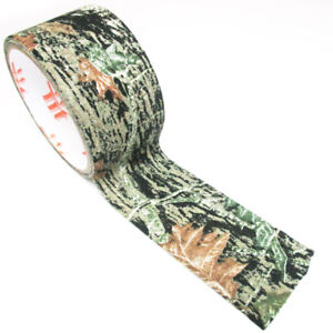 """Camo Cloth Tape Roll 2"""" x 10 Feet Realtree Hunting Camouflage Wrap Gun Bow New"""