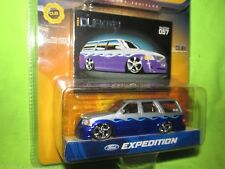 dub city customs ford expedition SILVER / PURPLE   jada 1/64 SLAMMED LOWRIDER