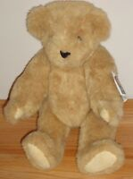 "Vermont Teddy Bear 16"" jointed plush Vintage 1992 w/Tags"