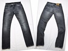 NUDIE JEANS NJ985 * Super Slim Kim Used Black * Men's Gray Jeans W29 L32