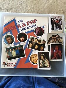 Panini Rock & Pop collection 1980 Loose sticker set & empty album Ex-Nm Rare