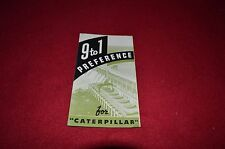 Caterpillar 9 to 1 Preference For Caterpillar Pocket Dealers Brochure DCPA8