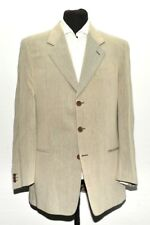 NEW MEN GIORGIO ARMANI IVORY TEXTURED SUIT MADE IN ITALY 42 R W 35