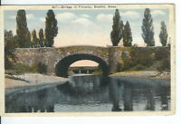 CG-188 MA, Boston, Bridge in Fenway from Water Divided Back Postcard