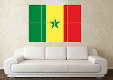 Senegal Flag Wall Art Poster World Cup 2018 FIFA Birthday Fathers Day Football